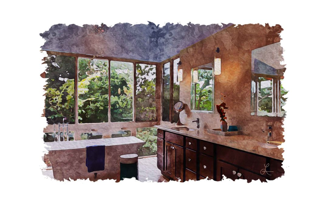 Master Bath with View