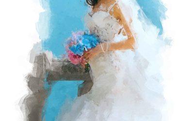 Bride in the Mediterranean
