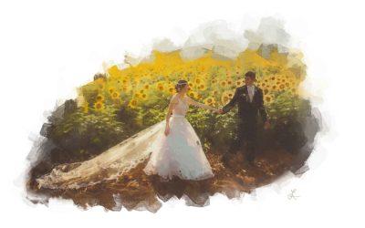 Sunflower Newlyweds